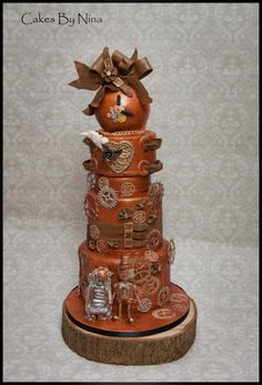 Steam Punk Wedding - Cake by Cakes by Nina Camberley