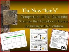 "The ""New Ism's"" Activity – Economic Systems of the Industrial Revolution. World History Lesson Plans."