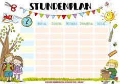Mein Stundenplan – Poster (Freebie) School Timetable, Greta, New Work, Planer, Map, Entering School, Kindergarten, Deutsch, Unit Plan