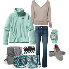 Casual outfit-love the mint color