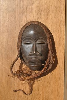 Vintage Dan Tribal Mask. Hand Carved Côte d'Ivoire Wooden Face Mask. by GoldenGully on Etsy