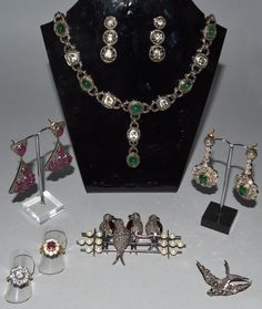 Part of over 200 lots of fine jewellery to be included in the auction. Various estimates.