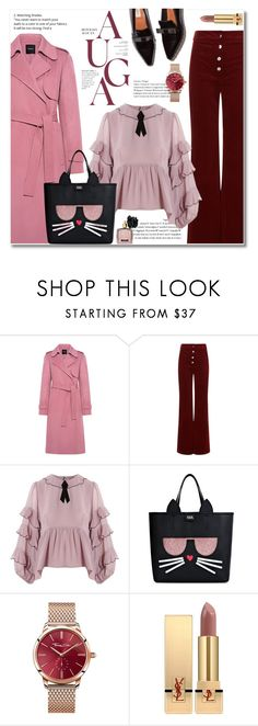 """""""carry me"""" by limass ❤ liked on Polyvore featuring Theory, Vanessa Bruno, For Love & Lemons, Karl Lagerfeld, Thomas Sabo, Yves Saint Laurent and Victoria's Secret"""