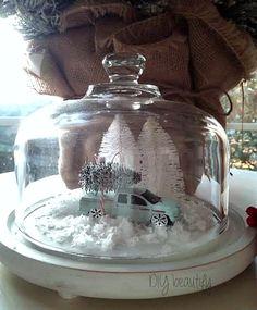 Christmas Cloche at DIY beautify blog