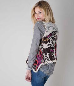 Gimmicks by BKE Pieced Sweater Vest - Women's Boho Floral Vests | Buckle