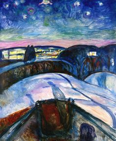 Edvard Munch, Starry Night | © Munch Museum/WikiCommons