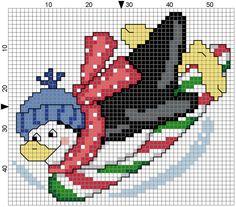 Sledding Penguin by Stitchluv on Etsy