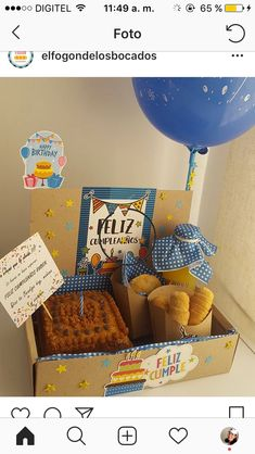 Caja sorpresa papá Home Bakery Business, Buisness, Ideas Para, Fathers Day, Diy And Crafts, Lunch Box, Breakfast, Birthday, Party
