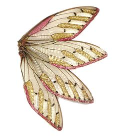 Marta Mattsson Brooch: Palindromes, 2014 Cicada wings, crushed stone, glitter, resin, silver