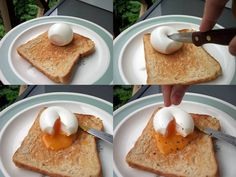 The best way to peel a soft boiled egg without tears! Crack first, then ice it! That's the bottom line; full details at Quinn's Baking Diary: How to coddle egg