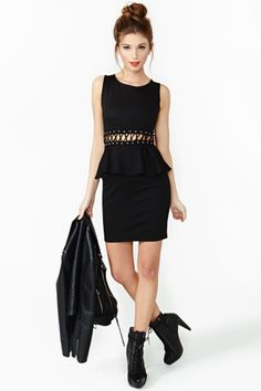 Laced Peplum Dress