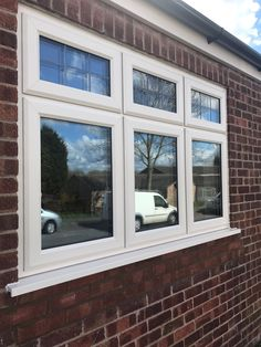 Cream #Synseal #Legend 70 double glazed A rated windows with aged square lead top lights. Installed in Keyworth, Nottingham. For a free quotation call us on 01158 660066 visit http://www.thenottinghamwindowcompany.co.uk or pop into our West Bridgford showroom. #Nottingham #Upvc #DoubleGlazing #Keyworth #Cream