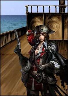 Anime Pirate Girl | Dirty Pirate Girl by `karyaazure on deviantART