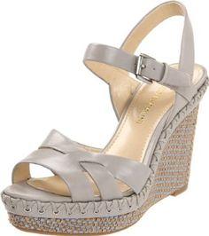 f702e4902fb0 Amazon.com  Enzo Angiolini Women s Greyti Wedge Sandal  Shoes Grey Leather