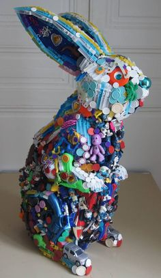 Saatchi Art: Rabbit Rabbit Sculpture by Robert Bradford Recycled Toys, Recycled Art Projects, Recycled Crafts, Recycling Projects, Rabbit Sculpture, Sculpture Art, Sculptures, Sculpture Projects, Sculpture Ideas