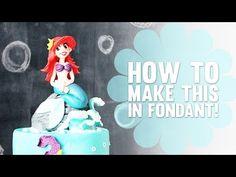 The Little Mermaid – Cake Topper Timelapse - Cake Dutchess Little Mermaid Cake Topper, Little Mermaid Birthday Cake, The Little Mermaid, Cake Topper Tutorial, Fondant Tutorial, Fondant Cake Toppers, Fondant Figures, Cake Dutchess, Polymer Clay Disney