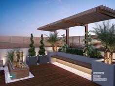 طراحی روف گاردن و تراس سبز گروه معماری هانی رضایی 09121447543 Roof Terrace Design, Rooftop Design, Rooftop Terrace, Terrace Garden, Modern Backyard, Backyard Patio, Porches, Modern Garden Design, Modern Architecture House
