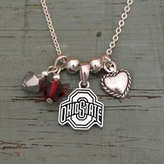 Ohio State Buckeyes Memory Necklace