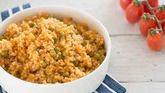 אורז מלא עם עגבניות ואפונה (צילום: ענבל כבירי ,אוכל טוב)
