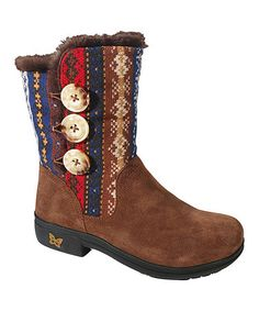 Another great find on #zulily! Cozy Choco Nanook Faux Fur & Suede Boot #zulilyfinds