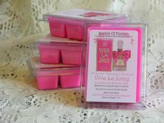 VIVA LA JUICY Soy Wax Melts - Juicy Couture Perfume Duplication Type Scent - Hand Made - Hand Poured - Made in UsA