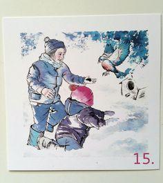 Pubblicata su calendario avvento 2015 libreria Radice e Labirinto, Carpi (Mo). Illustrazione di Sara Vincetti