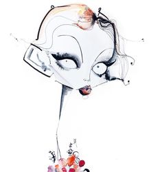 illustration by jamie lee reardin Photography Illustration, Love Illustration, Unique Drawings, Art Drawings, Tim Burton Art, Naive Art, Cartoon Art, Fashion Art, Comic Art