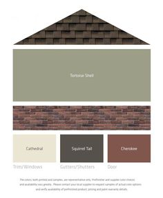 LP Fresh Color Palettes for brown roof/brick More