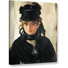 ArtWall Edouard Manet Berthe Morisot with a Bouquet of Violets Gallery-wrapped Canvas, Size: 18 x 24, Brown