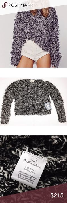 """NWT Small For Love and Lemons Joplin Sweater Brand New With Tags For Love & Lemons """"Joplin"""" Pullover Sweater Size: Small Lovely grey / black and white loop knit pulloversweater. Crochet style knitting under the loops. The sweater is slightly see-through due to the crochet knit. Sweater has a slight oversized fit. Retail: $215.00 USD  Measurements: 24in (61cm) sleeve length 18in (45.75cm) shoulder to hem 21in (53.25cm) across the chest 19in (48.25cm) across the waist  Material Content: 100%…"""