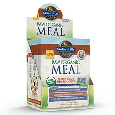 Garden of Life Organic Vegan Meal Replacement  Raw Plant Based Protein Powder Vanilla 10 Count Tray Net Wt 229 Oz * Check out this great product.