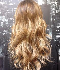 Blonde gold curls waves long
