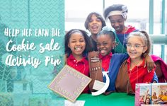 Help Her Earn the 2017 Cookie Activity Sale Pin Daisy Girl Scouts, Girl Scout Troop, Brownie Girl Scouts, Girl Scout Cookies, Gs Cookies, Girl Scout Juniors, Troops, Kicks, Activities