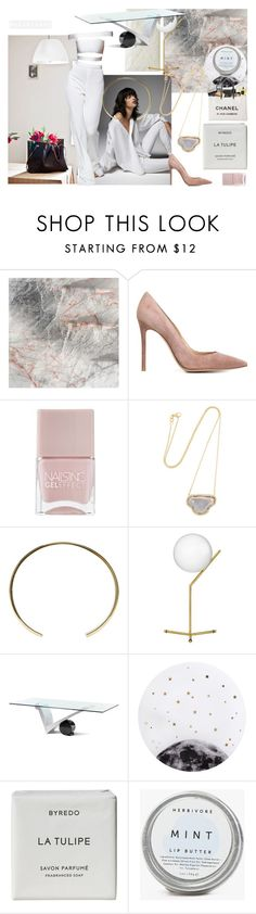 """""""basic part two roxariaone"""" by roxariaone ❤ liked on Polyvore featuring MASONFRANKS, Ragno, Gianvito Rossi, Nails Inc., Kimberly McDonald, Isabel Marant, Flos, Cattelan Italia, Lollipop and Byredo"""