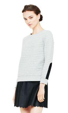 Abbie Quilted Sweatshirt - Club Monaco Sweatshirts - Club Monaco