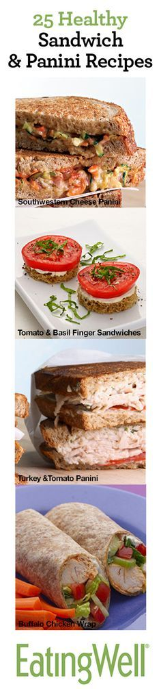 25 Healthy Sanwich & Panini Recipes for lunch ideas