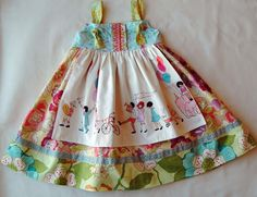 Children At Play Apron Dress by 1crown3tiaras on Etsy. $46.00 USD, via Etsy.
