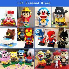 Build your own LOZ ! Great gift idea!Click here for more detail LOZ.en.alibaba.com   #minions #hellokitty #luffy #doreamon #batman #Spiderman #lozblock #nanoblock