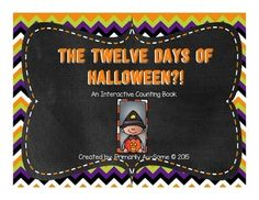 The traditional 12 days of christmas with a twist! Now, it's the 12 days of Halloween in this cute interactive counting book! Students can read the song in story form. They can match each page with the corresponding number on each page. Laminate and add velcro for a fun counting task for your stud...