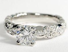 Flora Vida™ Diamond Engagement Ring in Platinum #BlueNile