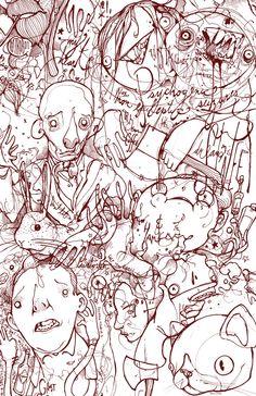 """Axes, Cats, and Hands"" Art Print by Hatrobot Children's Book Illustration, Illustrations, Drawing Studies, Hand Art, Print Artist, Textures Patterns, Pop Art, Sketches, Art Prints"