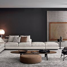 Be inspired with a colour palate that defines a space featuring the Anderson and Sullivan #minotti
