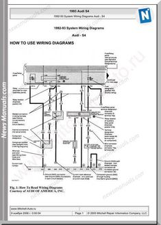 audi s4 1993 system wiring diagrams