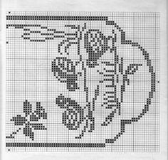 Gallery.ru / Фото #79 - Birds 1 - gabbach Crochet Cactus, Crochet Birds, Easter Crochet, Filet Crochet, Knit Crochet, Chicken Cross Stitch, Cross Stitch Bird, Boarder Designs, Crochet Table Runner