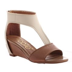 """Wedge cut out color block 2"""" wedge heel, crafted Manmade materials Nicole Shoes Wedges"""