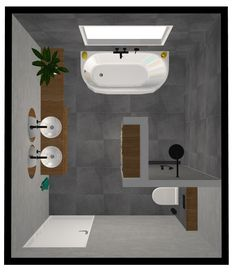 Bad Ideen Grundriss 12 m 2 12 m 2 Bad Boden Ideen Plan Bathroom ideas floor plan 12 m 2 12 m 2 bathroom floor ideas plan Ideen Industrial Bathroom, Modern Bathroom, Master Bathroom, Small Bathrooms, Dream Bathrooms, Bathroom Layout, Bathroom Interior, Bathroom Ideas, Bathroom Designs