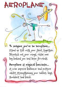45 Printable Children's Yoga Cards to by TeachChildrenYoga on Etsy