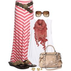 """""""Chevron Maxi Skirt"""" by wishlist123 on Polyvore Clothes Casual Outift for • teens • movies • girls • women •. summer • fall • spring • winter • outfit ideas • dates • parties Polyvore :) Catalina Christiano 