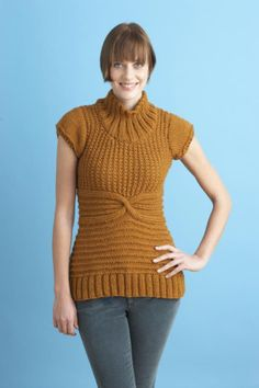 This short-sleeve knit sweater is great for when you are anxiously anticipating short-sleeve appropriate weather.