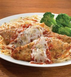 Tender chicken cutlets, encrusted with Parmesan cheese and seasonings, are topped with marinara sauce and mozzarella for an easy holiday dinner.